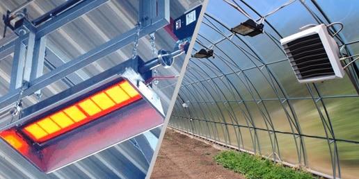 Продажа и установка газовых обогревателей для ангаров, хранилищ и тепличных хозяйств в Екатеринбурге от компании ГАЗБУРГ
